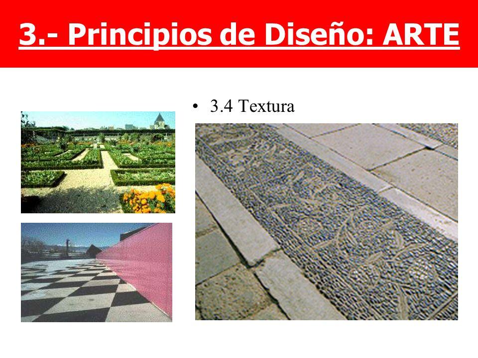 3.4 Textura 3.- Principios de Diseño: ARTE