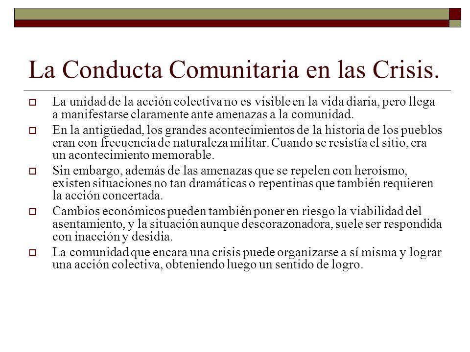 La Conducta Comunitaria en las Crisis.