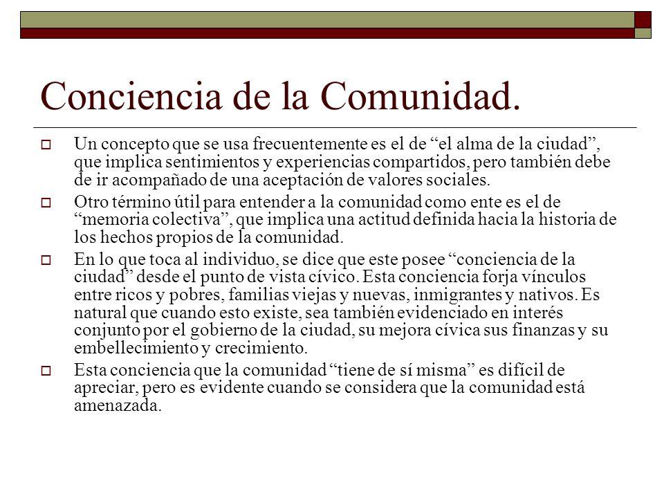 Multiplicidad de la Conducta Comunitaria.
