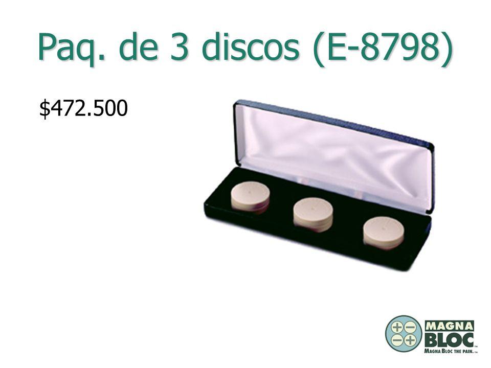 Paq. de 3 discos (E-8798) $472.500