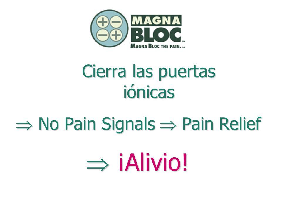 Cierra las puertas iónicas Pain Relief Pain Relief No Pain Signals No Pain Signals ¡Alivio! ¡Alivio!