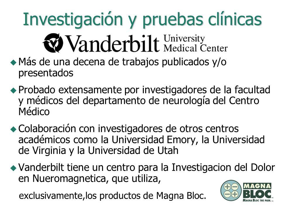 Estudio sobre dolor de: Investigación y pruebas clínicas u Espalda u Rodilla u Muñeca u Extracción de dientes