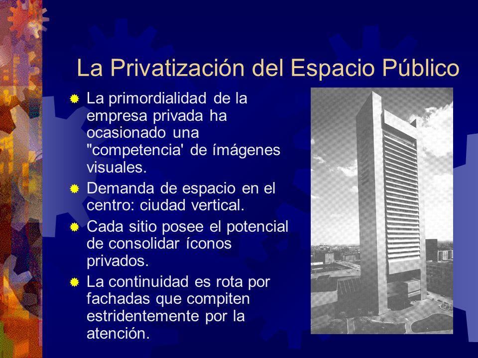 La Privatización del Espacio Público La primordialidad de la empresa privada ha ocasionado una