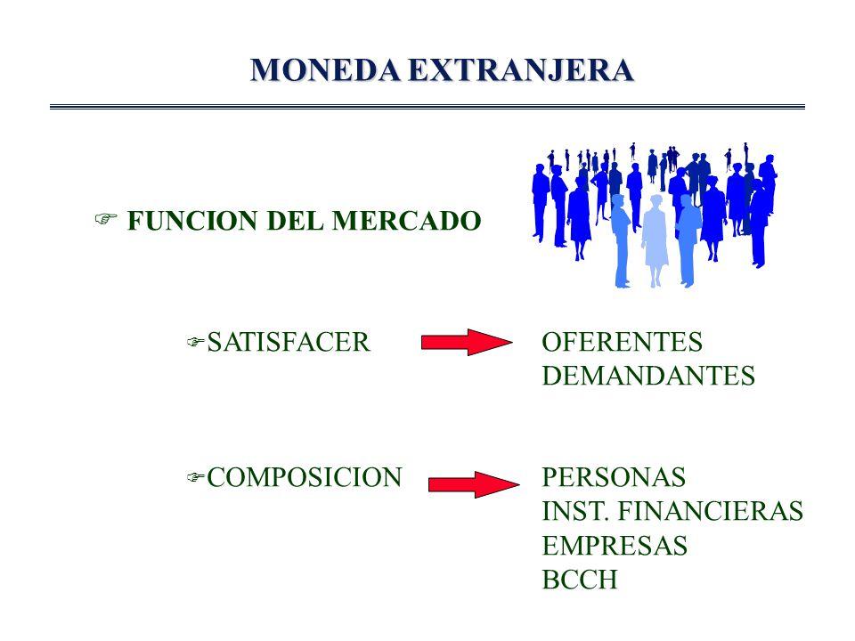 MONEDA EXTRANJERA FUNCION DEL MERCADO SATISFACEROFERENTES DEMANDANTES COMPOSICIONPERSONAS INST.