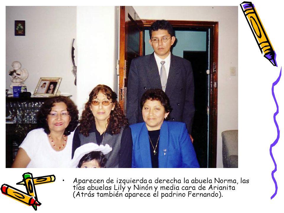 Aparecen de izquierda a derecha la abuela Norma, las tías abuelas Lily y Ninón y media cara de Arianita (Atrás también aparece el padrino Fernando).