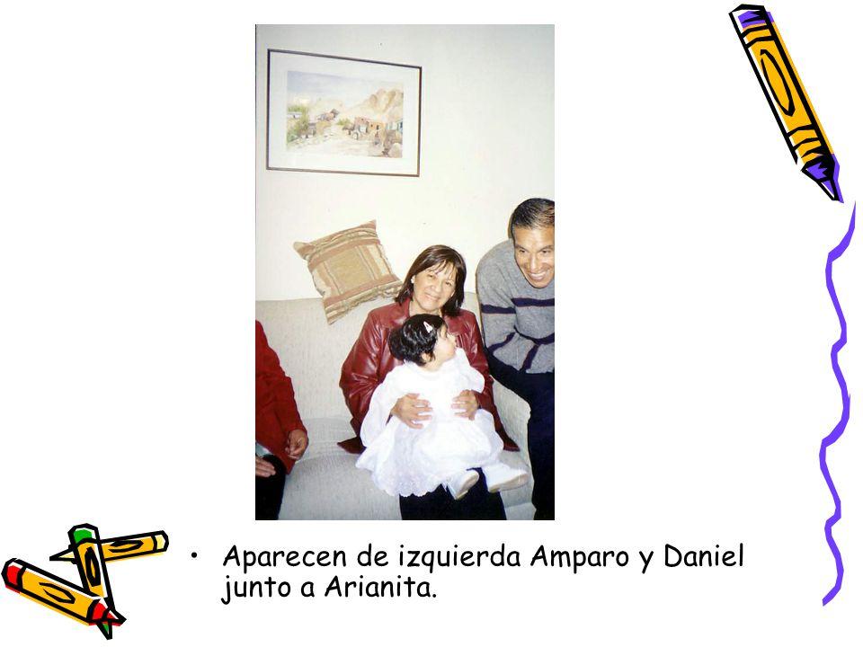 Aparecen de izquierda Amparo y Daniel junto a Arianita.
