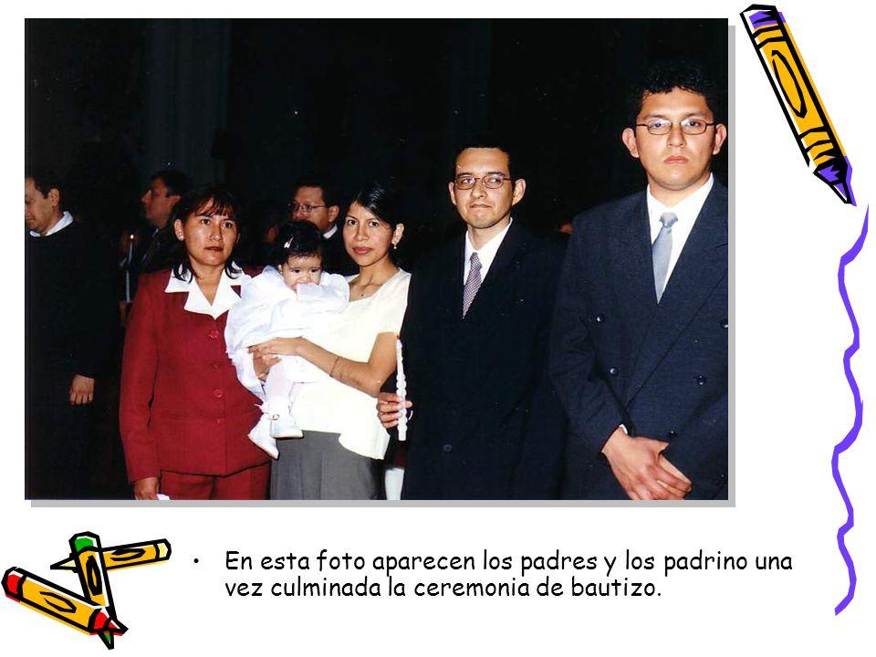 Aparecen de izquierda a derecha los tíos abuelos Maria y Manuel junto a Arianita.