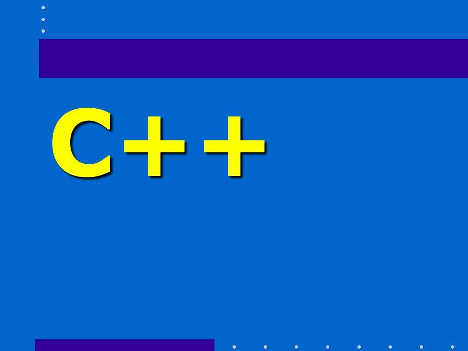 C++ Historia Desarrollado en 1980 y comenzó a utilizarse masivamente en 1983, su nombre proviene del incremento en potencialidad respecto de C.
