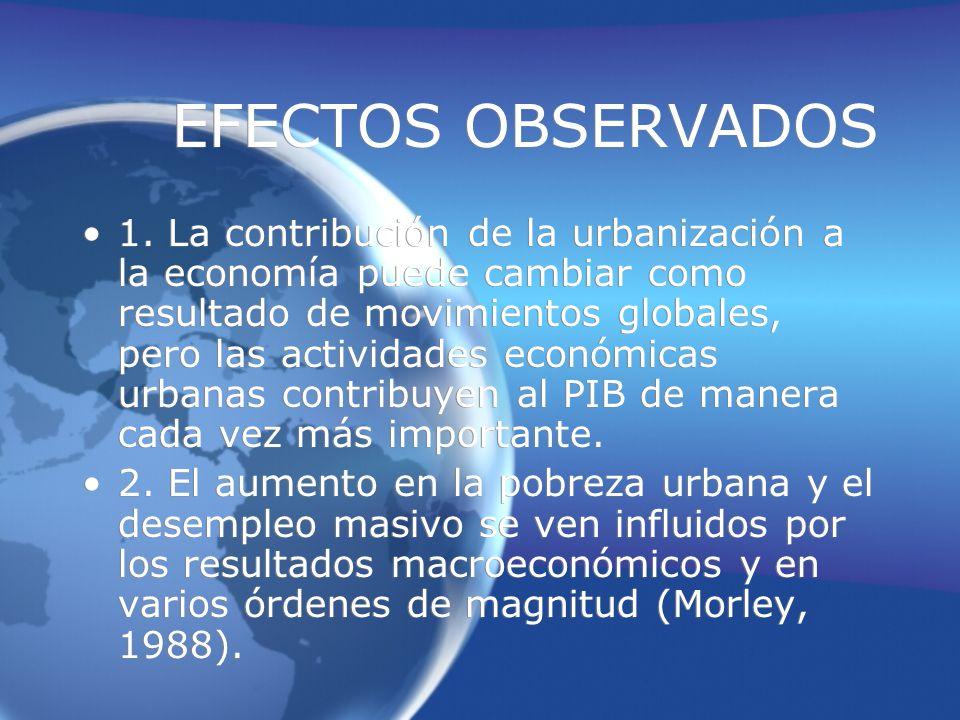 EFECTOS OBSERVADOS 1.