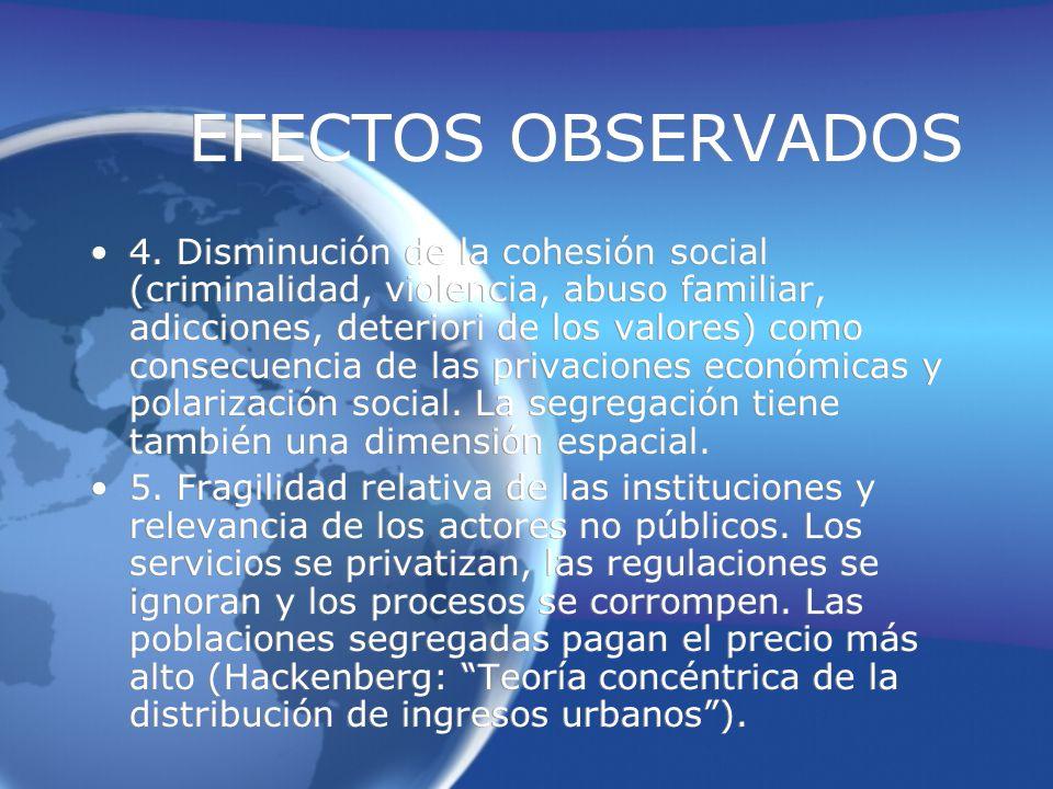 EFECTOS OBSERVADOS 4.