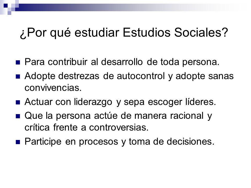 ¿Por qué estudiar Estudios Sociales.