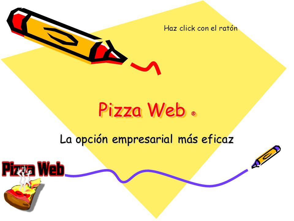 Pizza Web ® La opción empresarial más eficaz Haz click con el ratón