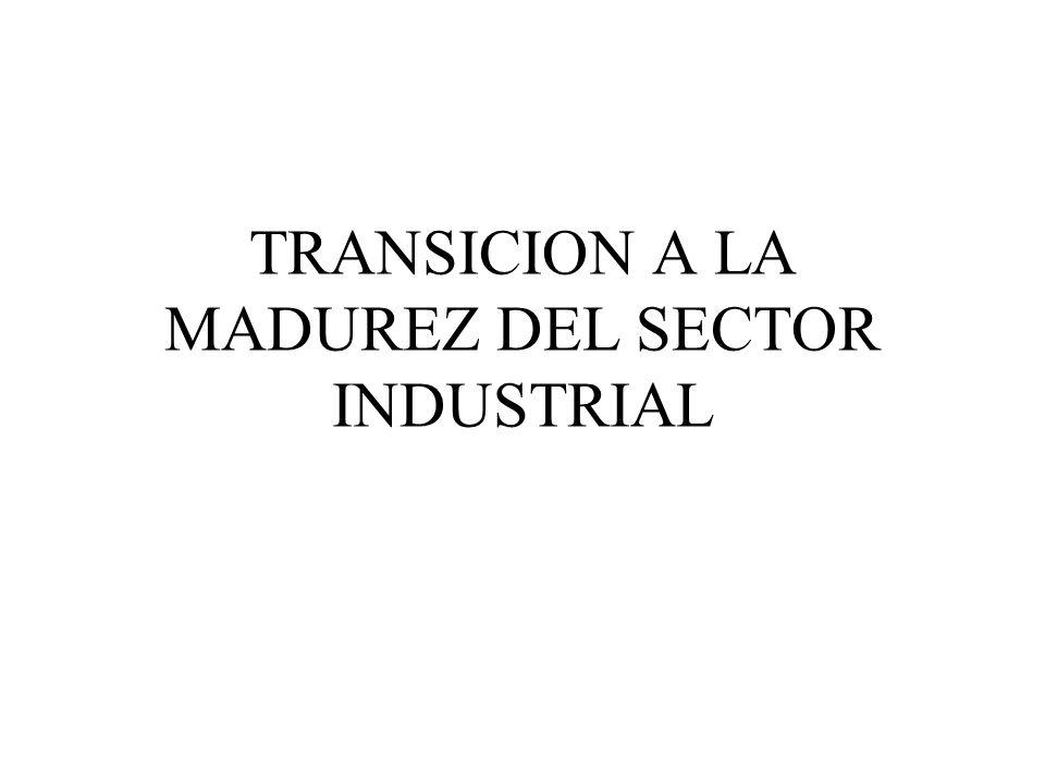 TRANSICION A LA MADUREZ DEL SECTOR INDUSTRIAL
