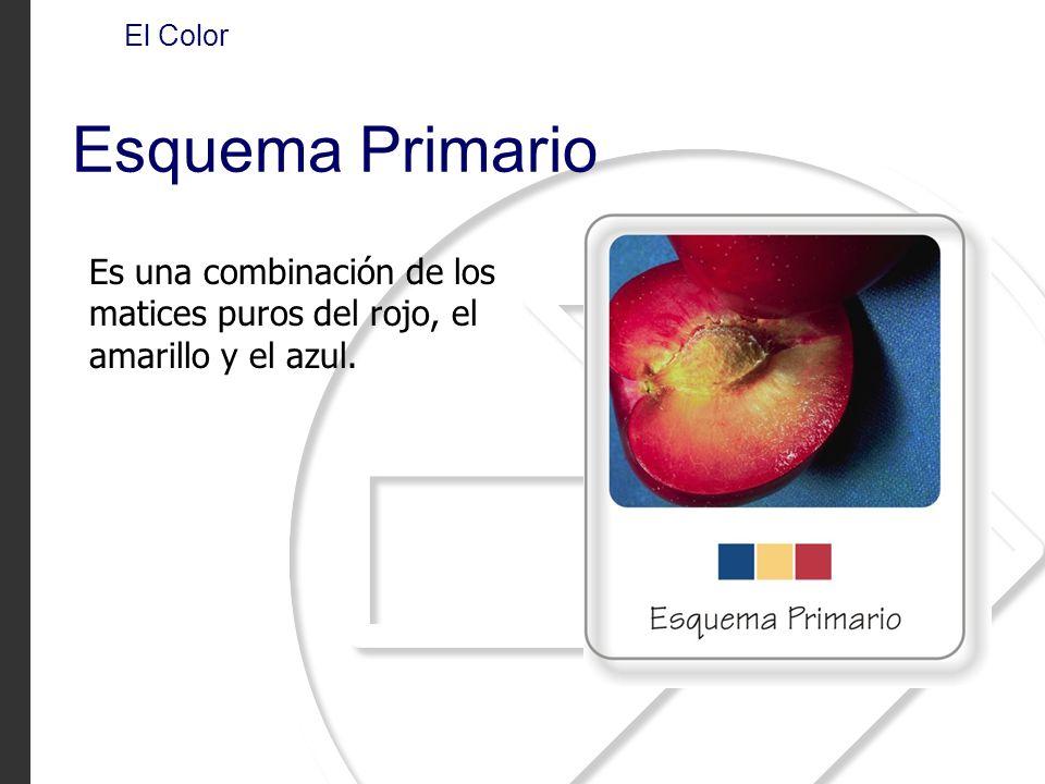 Es una combinación de los matices puros del rojo, el amarillo y el azul. El Color Esquema Primario