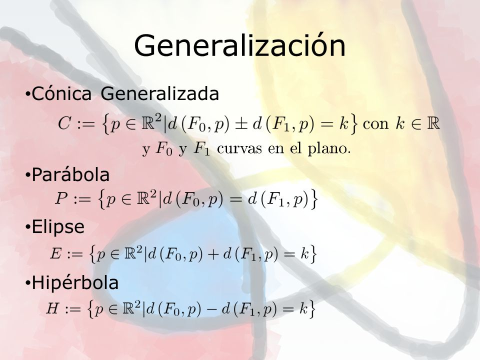 Algunas Propiedades Las Cónicas Generalizadas son curvas.