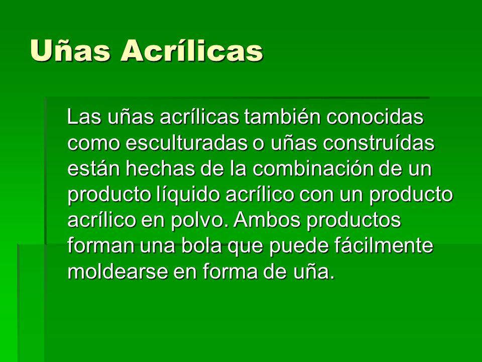 El monómero En el proceso de uñas acrílicas hay tres ingredientes básicos.