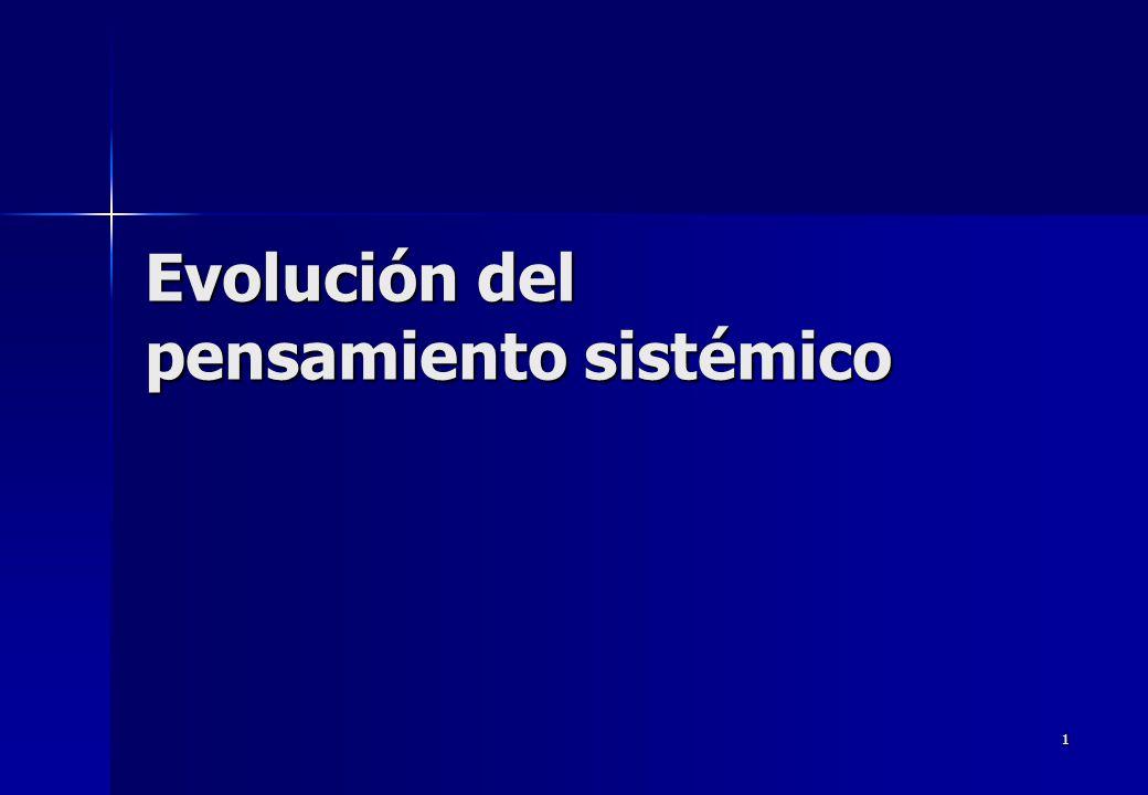 1 Evolución del pensamiento sistémico