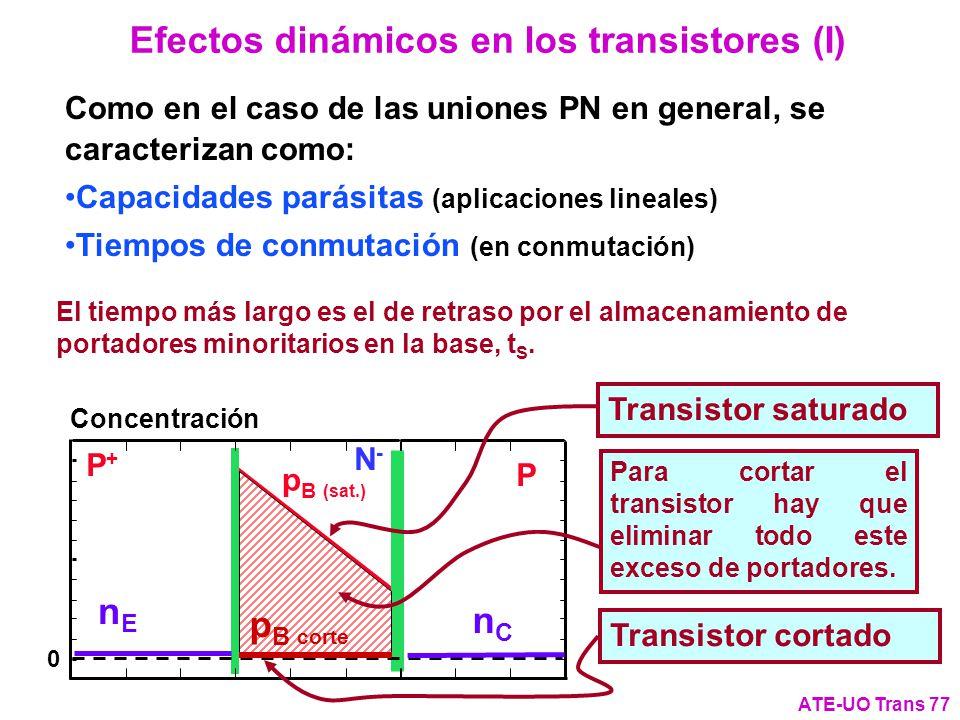 Como en el caso de las uniones PN en general, se caracterizan como: Capacidades parásitas (aplicaciones lineales) Tiempos de conmutación (en conmutaci