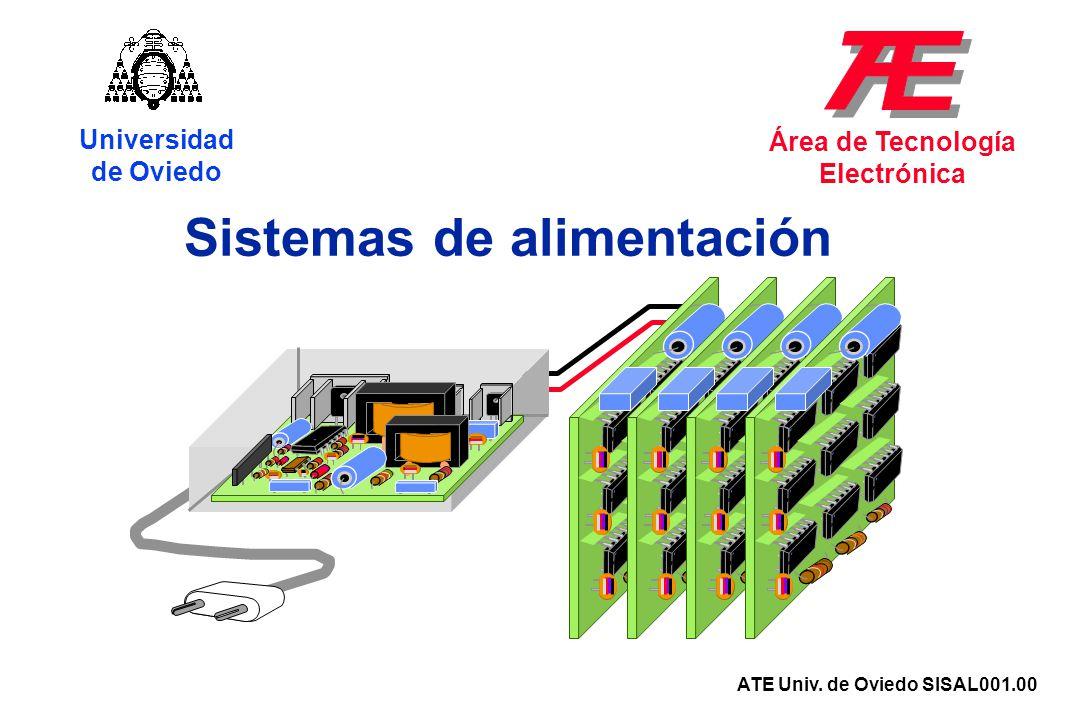 Sistemas de alimentación Universidad de Oviedo Área de Tecnología Electrónica ATE Univ. de Oviedo SISAL001.00