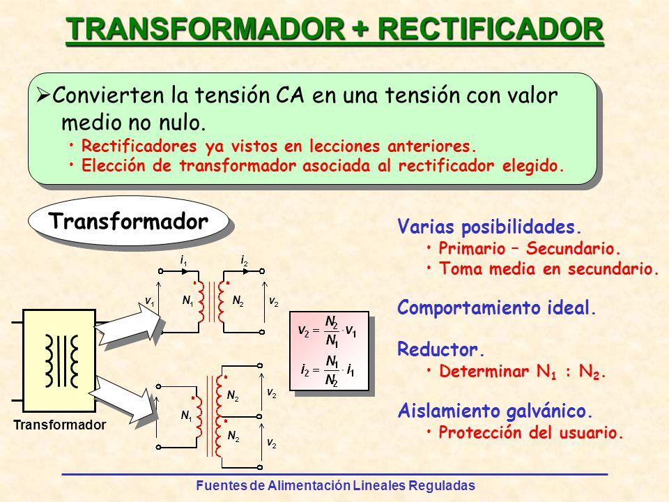 Fuentes de Alimentación Lineales Reguladas v2v2 VpVp FILTRADO DE LA TENSIÓN RECTIFICADA Filtro por condensador Análisis T / 2 VrVr Supone descarga del condensador a corriente constante.