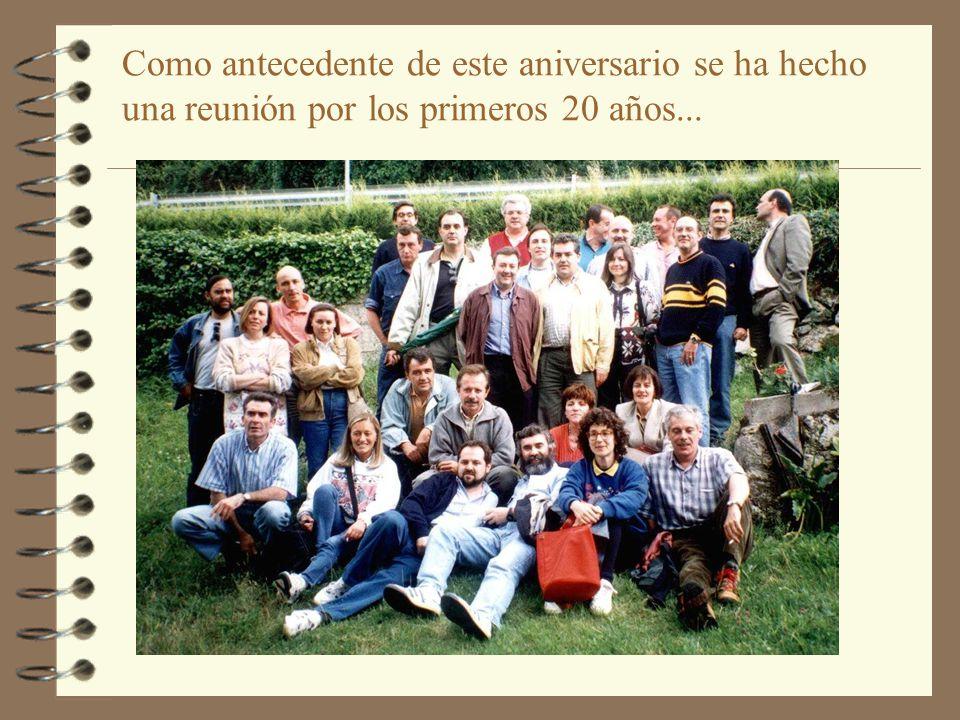 Hace 25 años coincide que también...