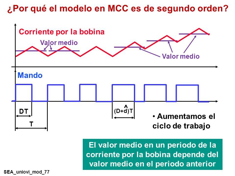 ¿Por qué el modelo en MCC es de segundo orden.