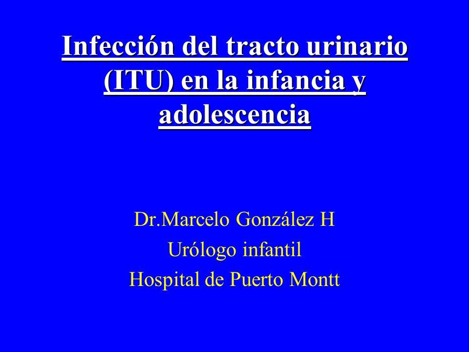 Infección del tracto urinario (ITU) en la infancia y adolescencia Dr.Marcelo González H Urólogo infantil Hospital de Puerto Montt