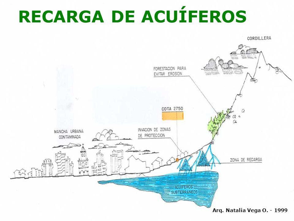 RECARGA DE ACUÍFEROS Arq. Natalia Vega O. - 1999