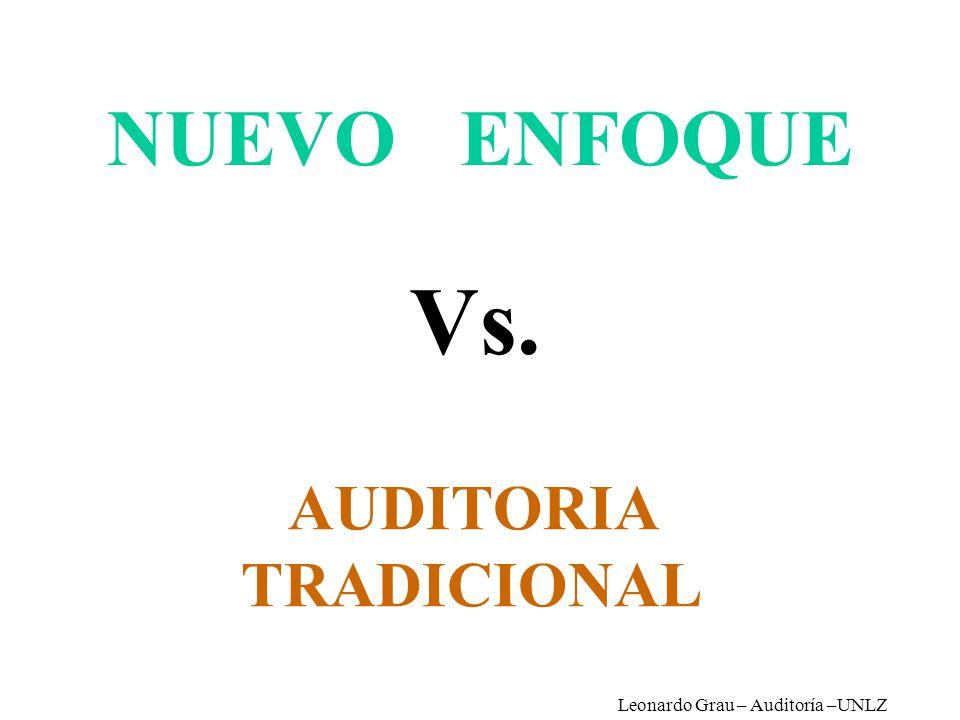 NUEVO ENFOQUE AUDITORIA TRADICIONAL Vs. Leonardo Grau – Auditoría –UNLZ