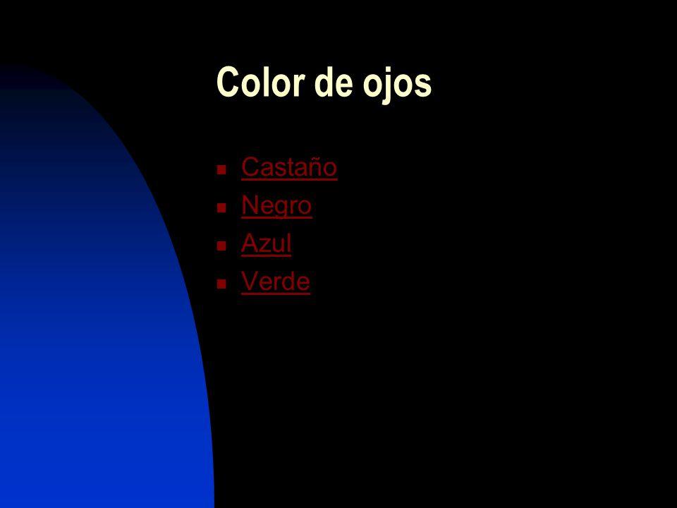 Color de ojos Castaño Negro Azul Verde