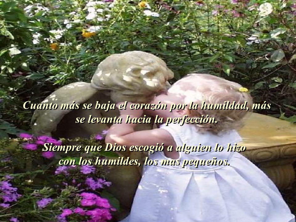 Cuanto más se baja el corazón por la humildad, más se levanta hacia la perfección.