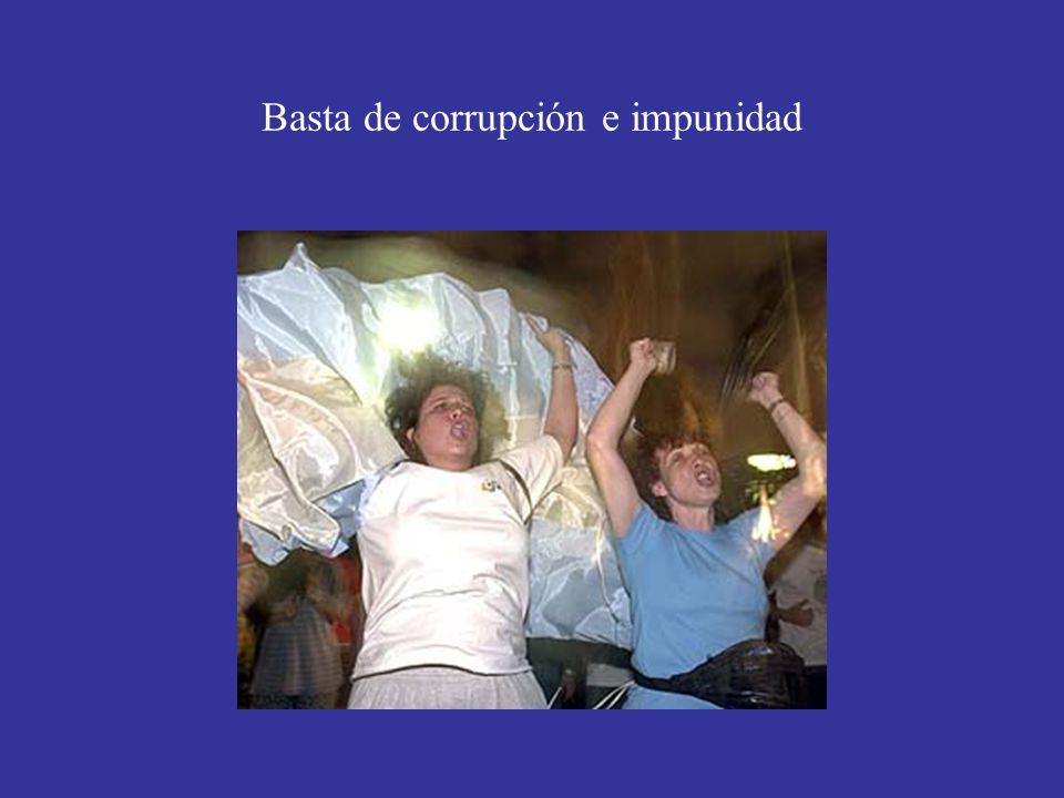 Basta de corrupción e impunidad