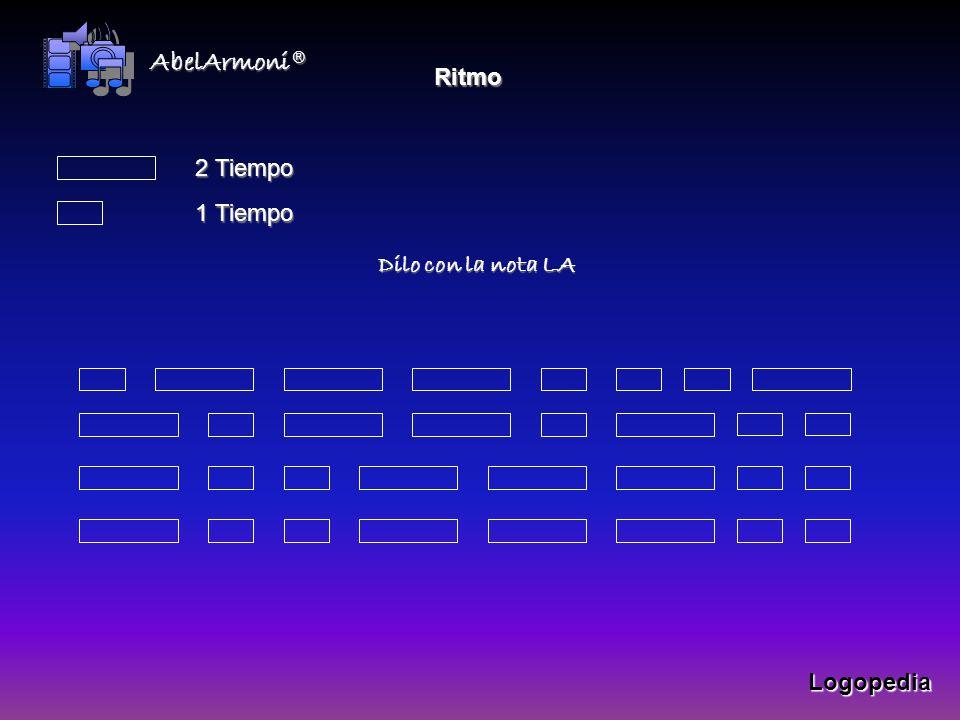 Ritmo 2 Tiempo 1 Tiempo Dilo con la nota LA Logopedia AbelArmoni®