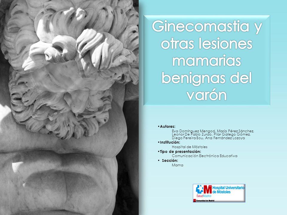 Objetivos Analizar los hallazgos mamográficos y ecográficos de la patología mamaria benigna en el varón, con especial hincapié en la ginecomastia.