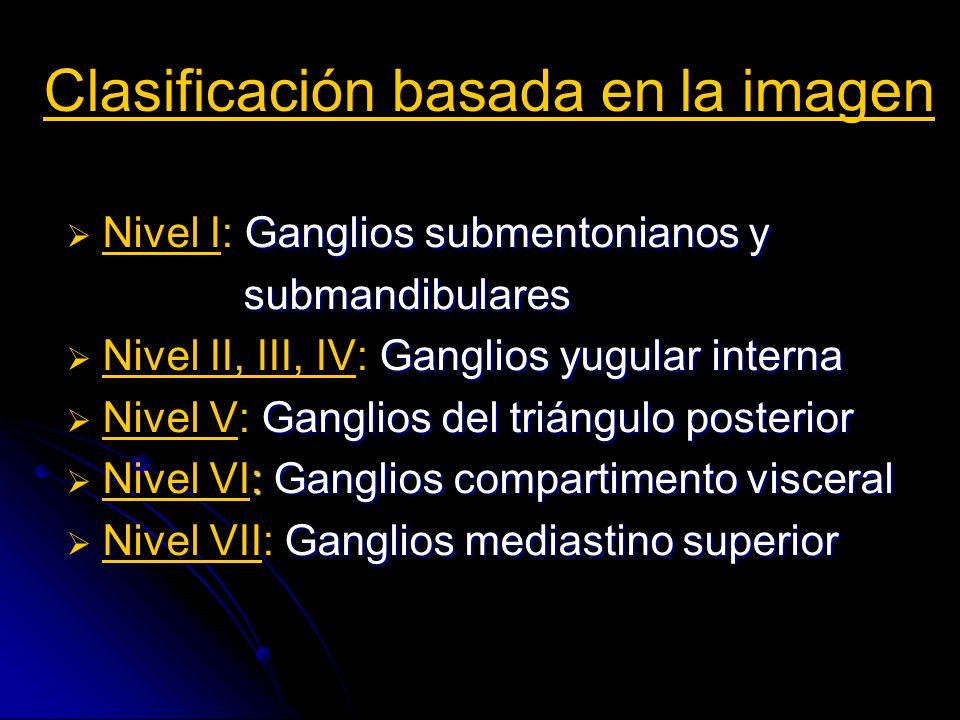 Clasificación basada en la imagen Principales grupos ganglionares del cuello según la clasificación del diagnóstico por imagen (1999).