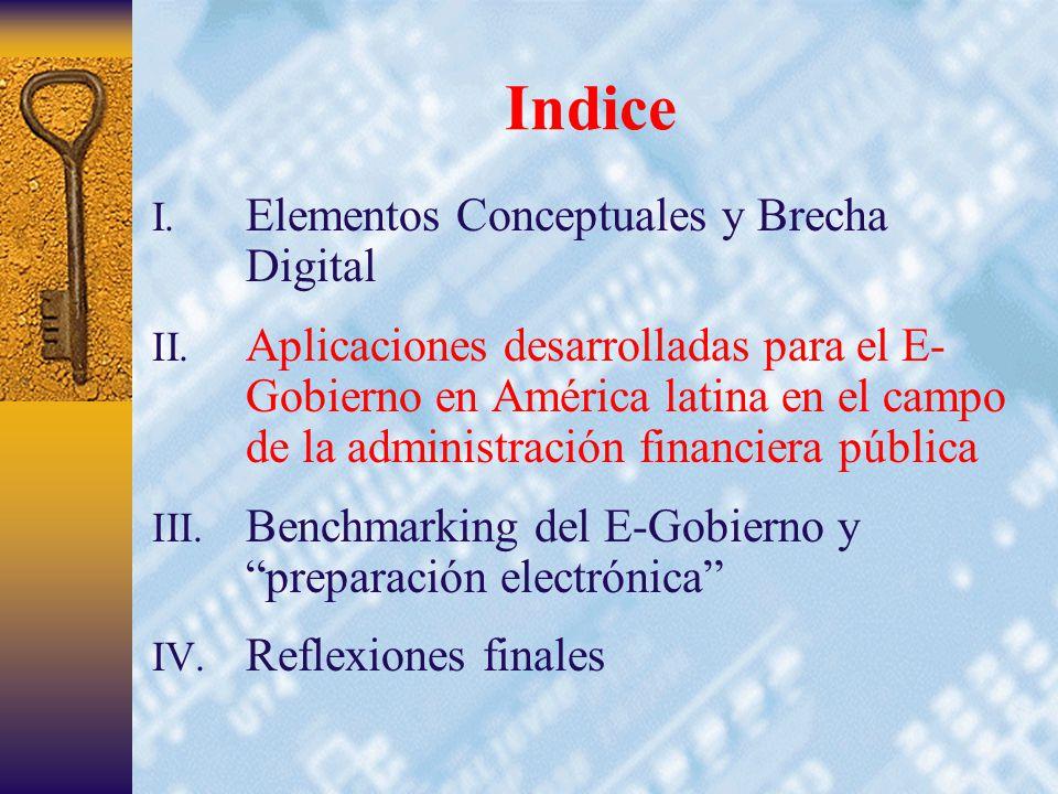 8 Indice I. Elementos Conceptuales y Brecha Digital II.