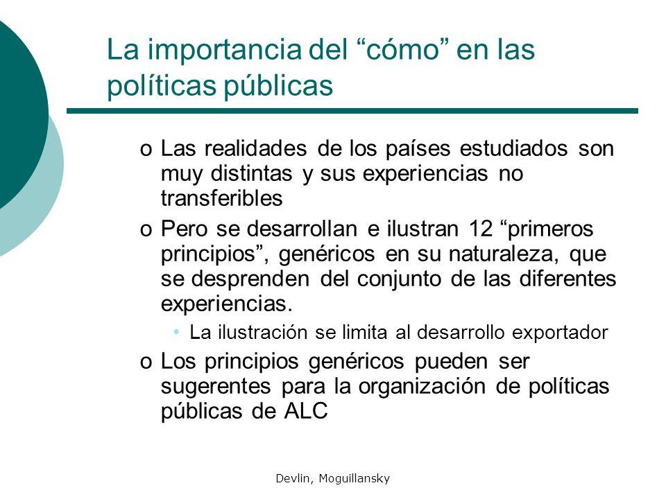 Devlin, Moguillansky La importancia del cómo en las políticas públicas oLas realidades de los países estudiados son muy distintas y sus experiencias n