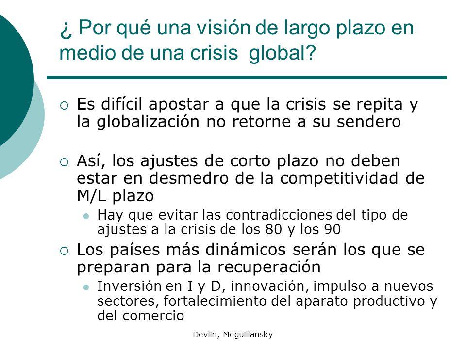 Devlin, Moguillansky ¿ Por qué una visión de largo plazo en medio de una crisis global? Es difícil apostar a que la crisis se repita y la globalizació