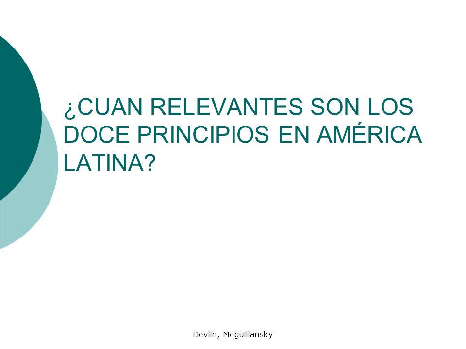 Devlin, Moguillansky ¿CUAN RELEVANTES SON LOS DOCE PRINCIPIOS EN AMÉRICA LATINA?