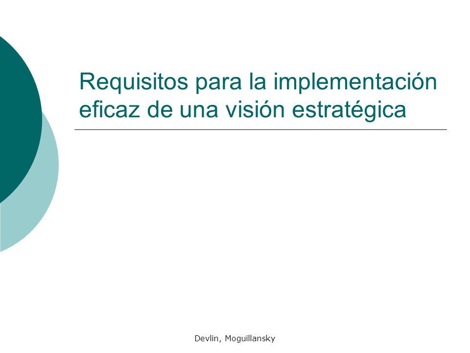 Devlin, Moguillansky Requisitos para la implementación eficaz de una visión estratégica
