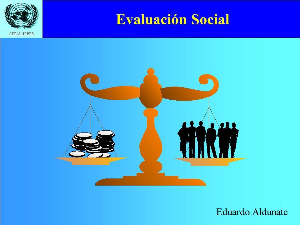 CEPAL/ILPES Valor social del trabajo Debe reflejar la pérdida de bienestar medida en dinero que sufre la sociedad al dejar de emplear dicho recurso en los usos alternativos existentes.