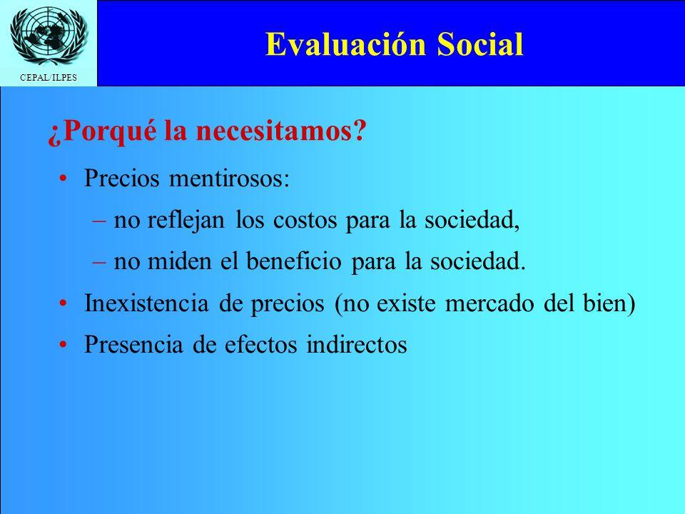 CEPAL/ILPES Valor social del trabajo PaísCategoríaFactor de ajuste Bolivia Calificada Semi calificada No calificada urbana No calificada rural 1,00 0,43 0,23 0,64 Chile Calificada Semi calificada No calificada 1,00 0,65 0,85 Colombia Calificada No calificada 1,00 0,60 Fuente: Bolivia: http://www.vipfe.gov.bo/dgip/index.html Chile: http://consultas.mideplan.cl/SEBI/2003/html/X_PRE_SO.htm Colombia: http://www.dnp.gov.co/ArchivosWeb/Direccion_Inversiones_Finanzas/BPIN/ Metodologias/001.doc