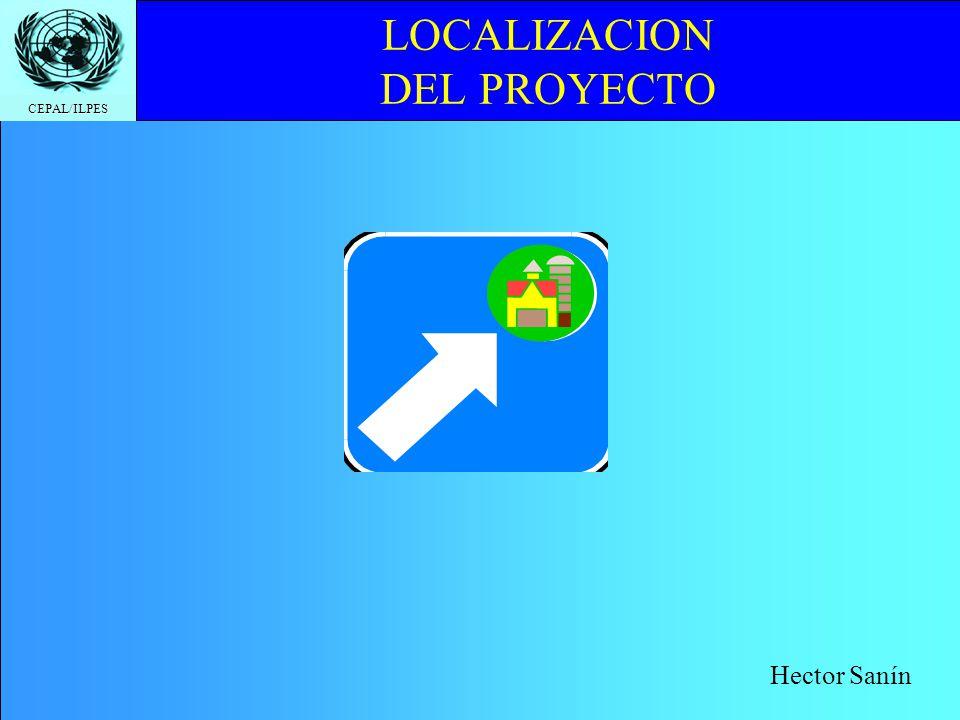 CEPAL/ILPES LOCALIZACION DEL PROYECTO Hector Sanín