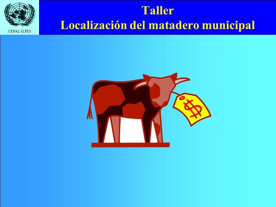 CEPAL/ILPES Taller Localización del matadero municipal