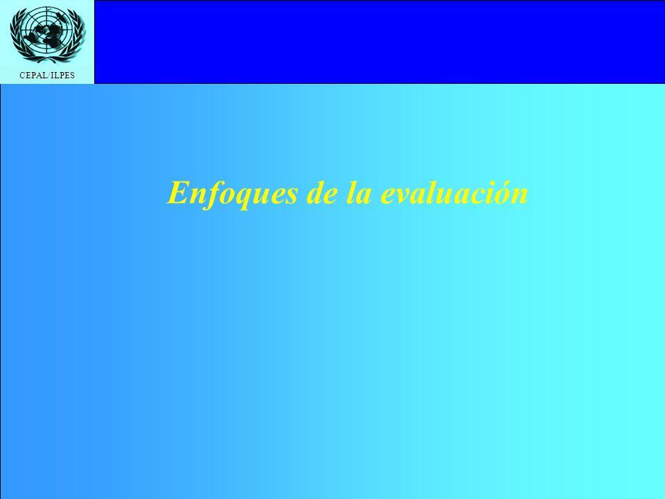 CEPAL/ILPES Enfoques de la evaluación