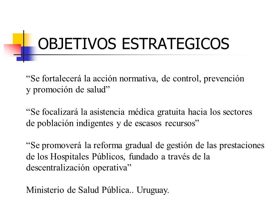 Se fortalecerá la acción normativa, de control, prevención y promoción de salud Se focalizará la asistencia médica gratuita hacia los sectores de pobl