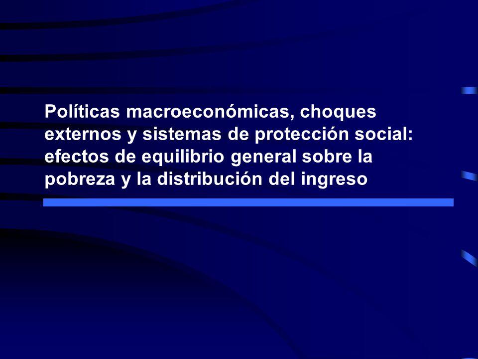 Políticas macroeconómicas, choques externos y sistemas de protección social: efectos de equilibrio general sobre la pobreza y la distribución del ingreso