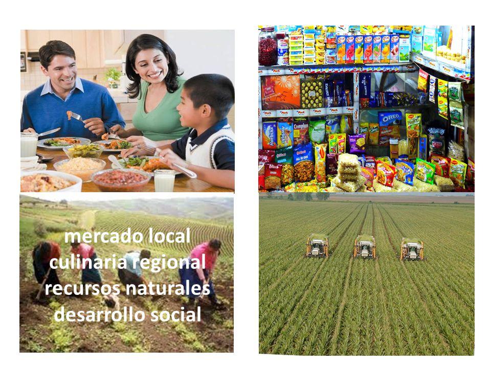 mercado local culinaria regional recursos naturales desarrollo social