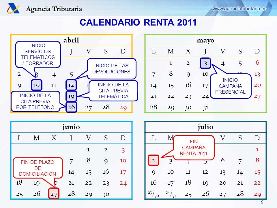 Ya tiene disponible el borrador de declaración de Renta 2011 de NIF ****XXXX**.