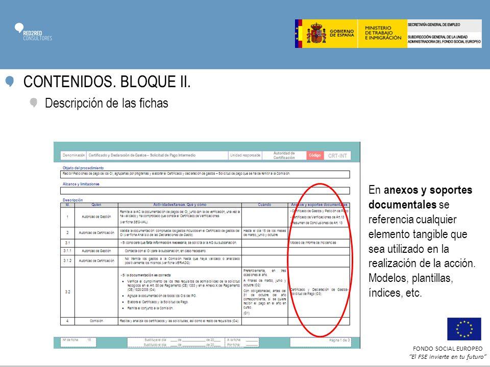FONDO SOCIAL EUROPEO El FSE invierte en tu futuro CONTENIDOS.
